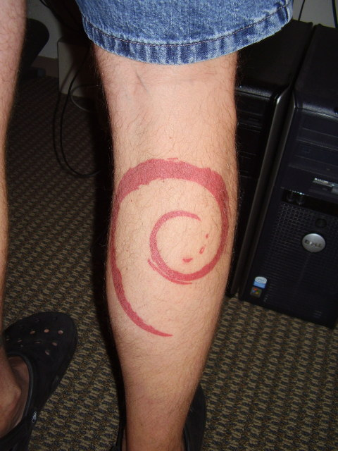 Debian Tattoo